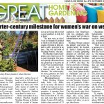 "Have a Go News- ""Quarter Century Milestone for women's war on weeds"""