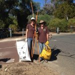 Marion and Evan – Clean Up Australia Day at Lake Claremont.
